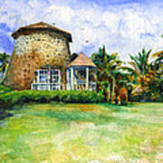 Rawlin's Plantation Inn St. Kitts Art Print