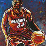 Ray Allen Art Print by Maria Arango