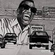 Ray Charles Art Print