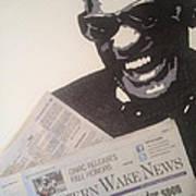Ray Charles Reading Art Print