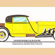 1922 Mercedes Benz By Raymond Dietrich Z Art Print
