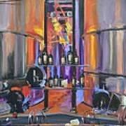 Raymond Vineyards Crystal Cellar II Art Print by Donna Tuten