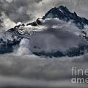 Rays Of Light On The Glaciers Art Print