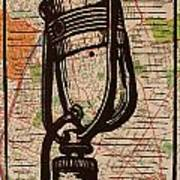 Rca 77 On Austin Map Art Print by William Cauthern