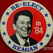 Re-elect Reagan Art Print by Paul Ward