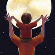Reach The Moon Print by Christy Beckwith