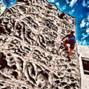 Reaching A Climbmax Art Print