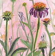 Reaching Flowers Art Print