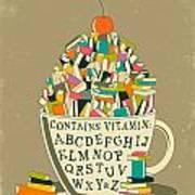 Read Art Print by Jazzberry Blue