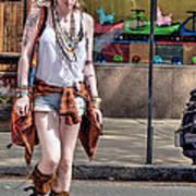 Redhead Crossing Main Street Art Print