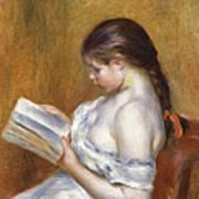 Reading Art Print by Pierre Auguste Renoir