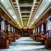 Reading Room In The Library Of Congress Art Print