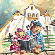 Reading The Bible In La Iruela In Spain Art Print