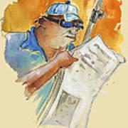 Reading The News 04 Art Print