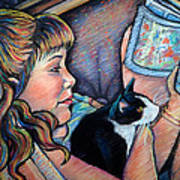 Reading To Boots Art Print