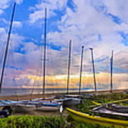 Ready For Sails Art Print by Debra and Dave Vanderlaan