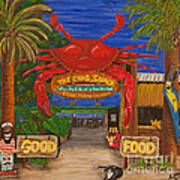 Ready For The Day At The Crab Shack Art Print
