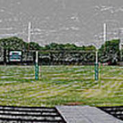 Ready For The Football Season Panorama Digital Art Art Print