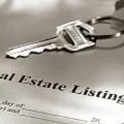 Real Estate Listing And Hosue Keys Art Print