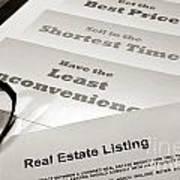 Real Estate Listing Presentation  Art Print