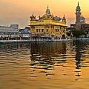 Real Gold At Golden Temple Art Print