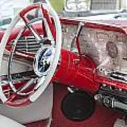 Really Red 1959 Lincoln Interior Art Print