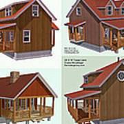 Realm Gallery Cabin Designs Art Print
