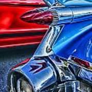 Rear Tail Lights Art Print