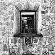 Rear Window Bw Santa Barbara Art Print