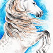 Rearing Andalusian Horse Art Print