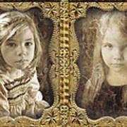 Rebecca And Sara Art Print