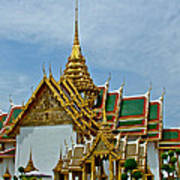 Reception Hall At Grand Palace Of Thailand In Bangkok Art Print