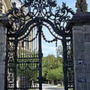 Recidence Garden Gate - Wuerzburg Art Print