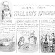 'recipes From Hillary's Kitchen' Art Print
