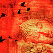 Reclining Buddha Art Print