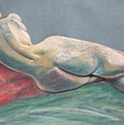 Reclining Nude Back Print by Asha Carolyn Young
