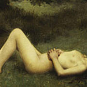 Reclining Nude Print by Louis Courtat