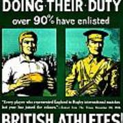 Recruiting Poster - Britain - Rugby Art Print