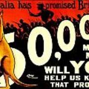 Recruiting Poster - Ww1 - Australian Promise Art Print