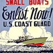Recruiting Poster - Ww2 - Coast Guard Art Print