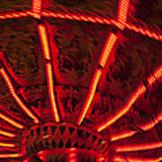 Red Abstract Carnival Lights Art Print