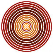 Red Abstract Circle Art Print by Frank Tschakert