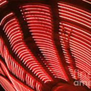 Red Abstract Light 15 Art Print
