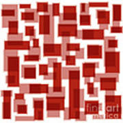 Red Abstract Patches Art Print