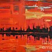 Red Amazon Sunset Art Print