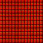 Red And Black Checkered Tablecloth Cloth Background Art Print