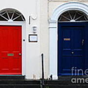 Red And Blue Doors Art Print