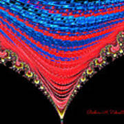Red And Blue Shawl  Art Print