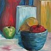 Red And Blue Still Life 2013 Art Print