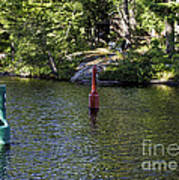 Red And Green Buoys Art Print